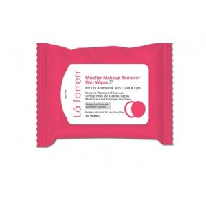 دستمال مرطوب آرایش پاک کن مناسب پوست خشک و حساس لافارر