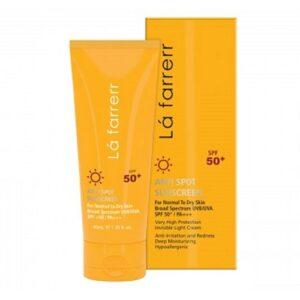 کرم ضد آفتاب و ضد لک بیرنگ پوست خشک SPF50 لافارر
