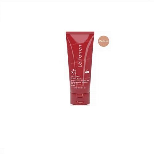 کرم ضد آفتاب و ضد لک رنگی (متوسط) پوست چرب لافارر SPF40
